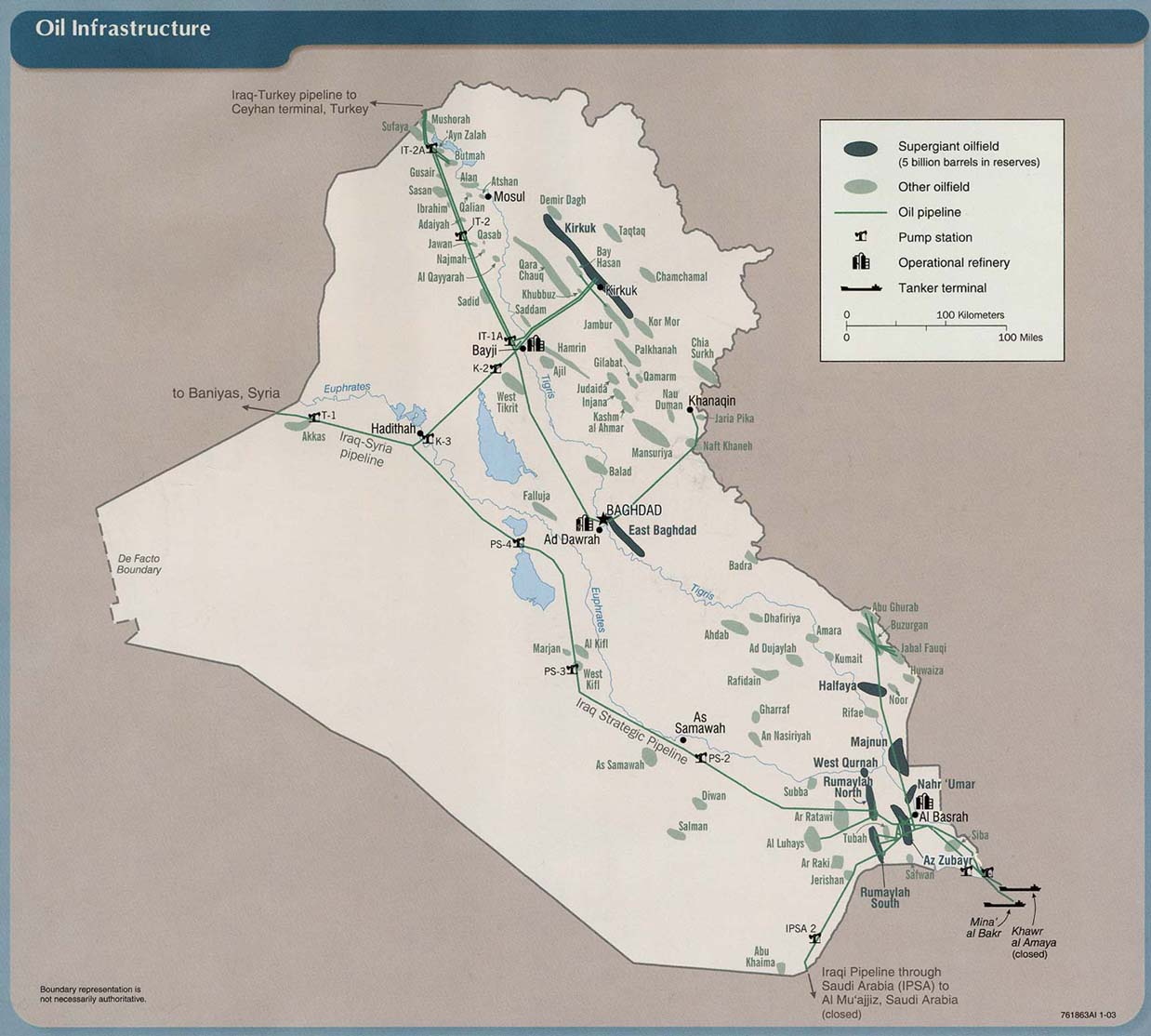Iraq oil infrastructure map iraq mappery sciox Gallery