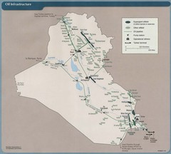 Iraq Oil Infrastructure Map