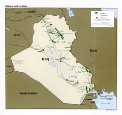 Iraq Oilfields and Facilities Map