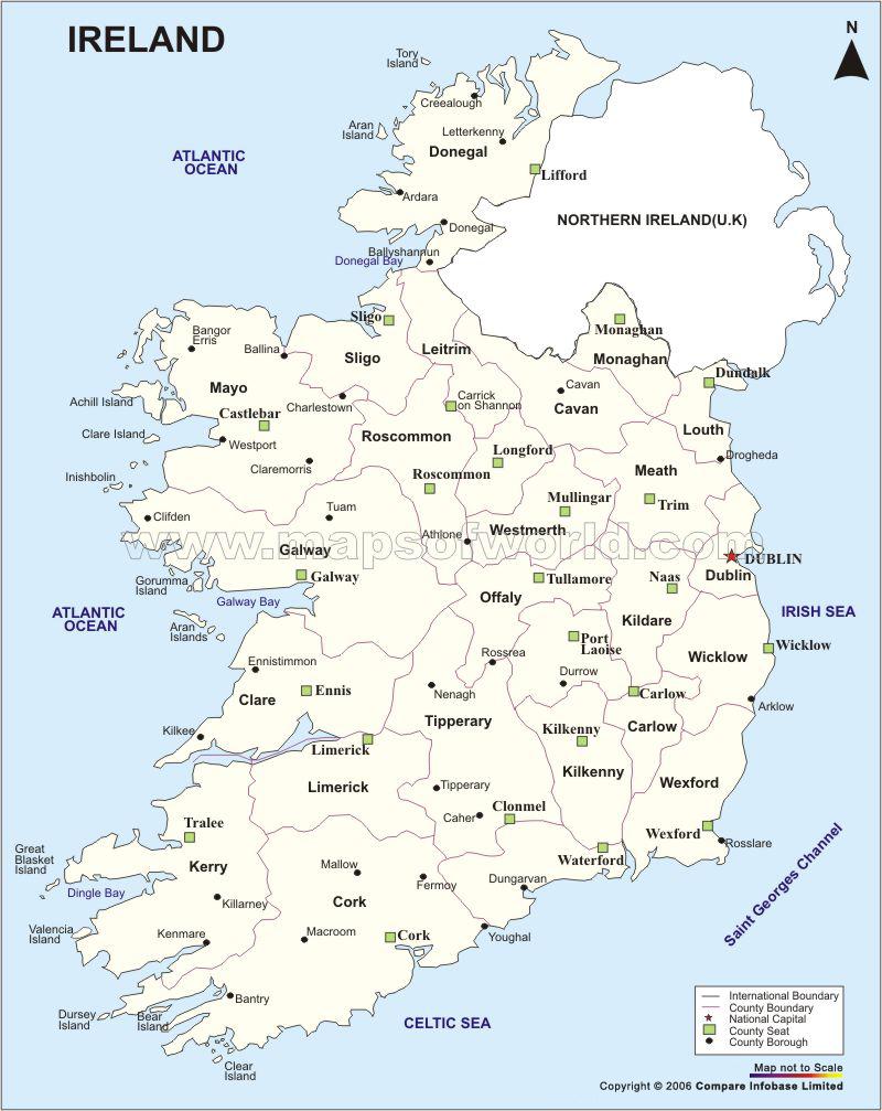 ireland map: