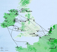 Ireland to Luxembourg Travel Map