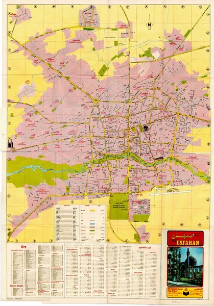 Isfahan Esfahan Map