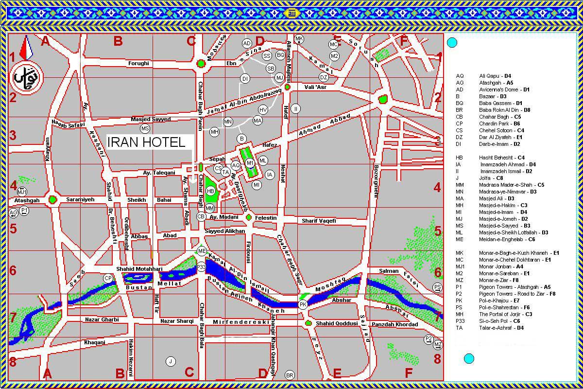 伊斯法罕市地图