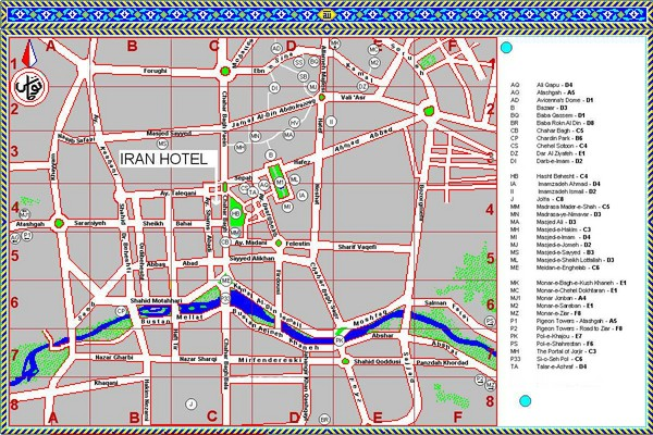 Isfahan Iran Tourist Map - Isfahan • mappery