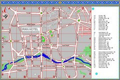 Isfahan Iran Tourist Map