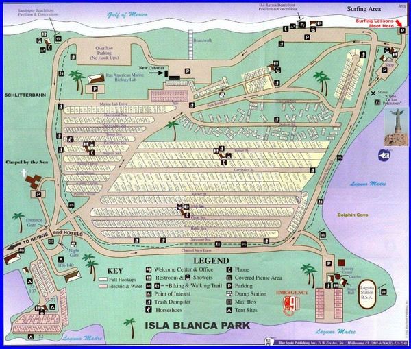 Isla Blanca Beach Park Map
