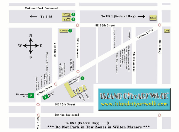 Island City Art Walk Map