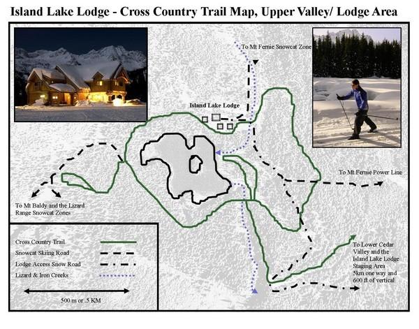 Kimberley Alpine Resort Ski Trail Map  Kimberley British Columbia