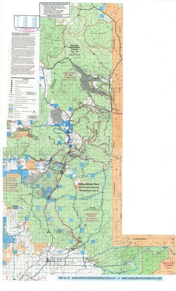 Island Park Idaho Area Snowmobile Map   Island Park Idaho • mappery