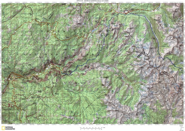 Island Pass to Yosemite Village Topo Map