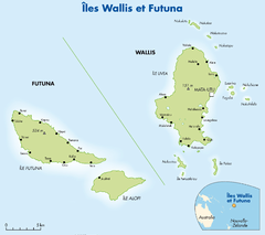 Islands of Wallis and Futana Map