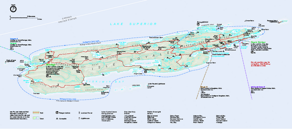 Isle Royale National Park Official Park Map