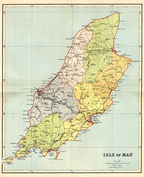 Isle Of Man Map Isle Of Man Mappery - Isle of man map