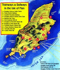 Isle of Man Railways and trams Map