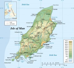 Isle of Man Topo Map