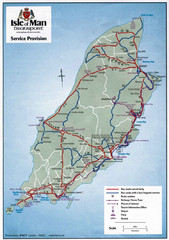 Isle of Man Transportation Map