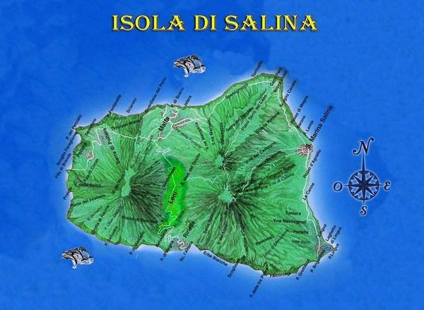 Isola di Salina Map Isola di Salina Italy mappery