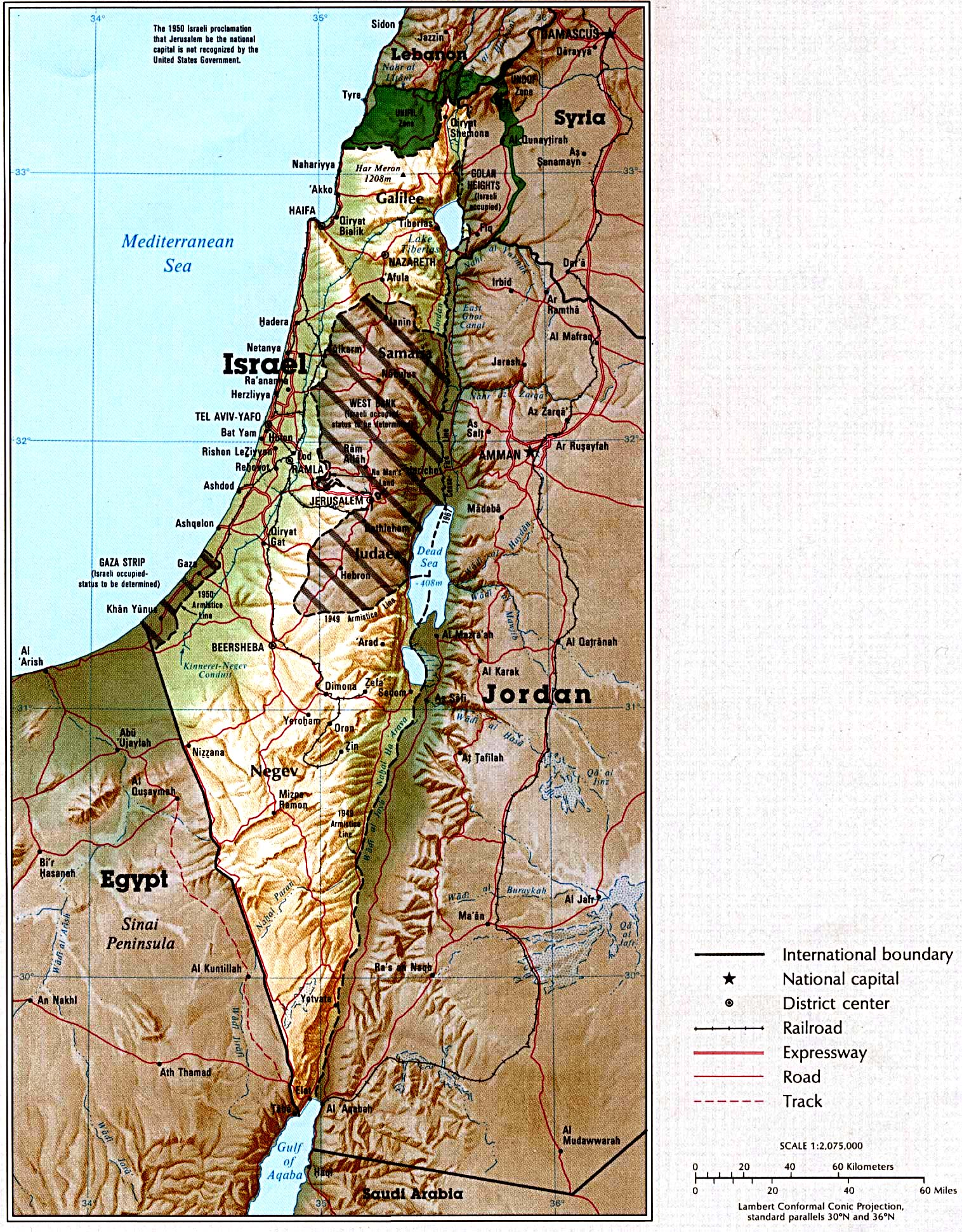 . israel map  isreal • mappery