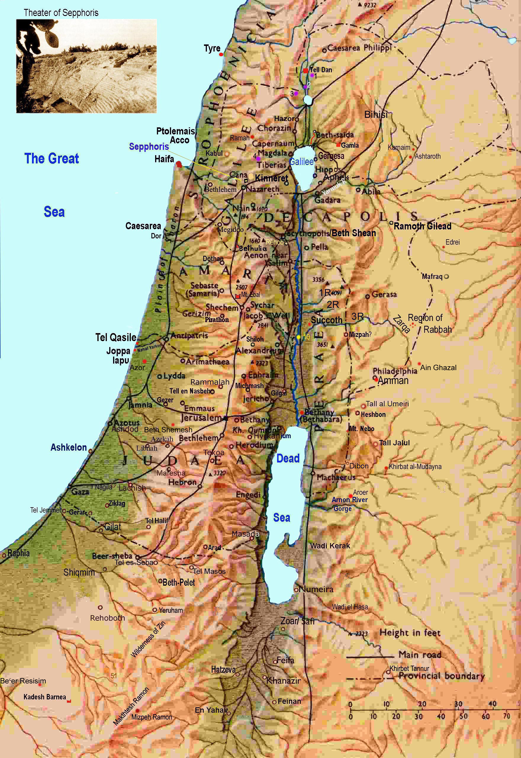 Israel Map Israel mappery