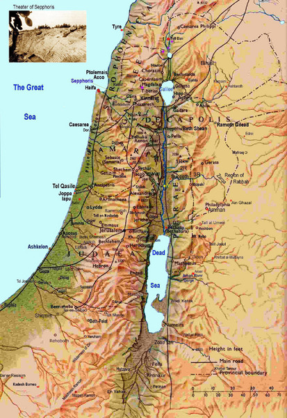 Satellite Map Israel