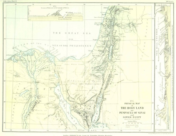 Israel and Sinai Map • mappery