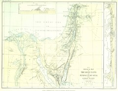 Israel and Sinai Map
