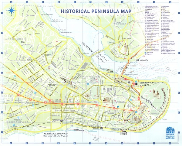 Western Turkey Tourist Map marmara mappery