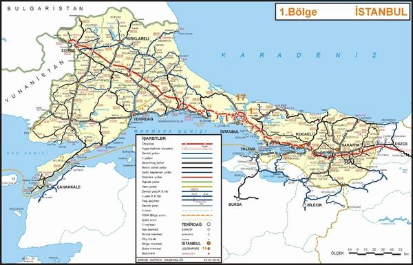Istanbul Region Highways Map - istanbul turkey • mappery