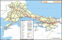Istanbul Region Highways Map