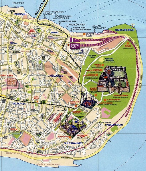 Istanbul Tourist Map Istanbul mappery – Tourist Map Of Istanbul Attractions