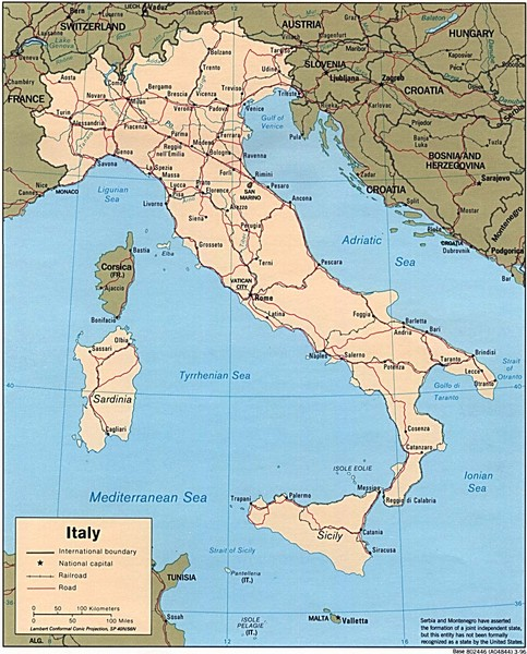 Obryadii00 Map Of Italy With Regions And Cities