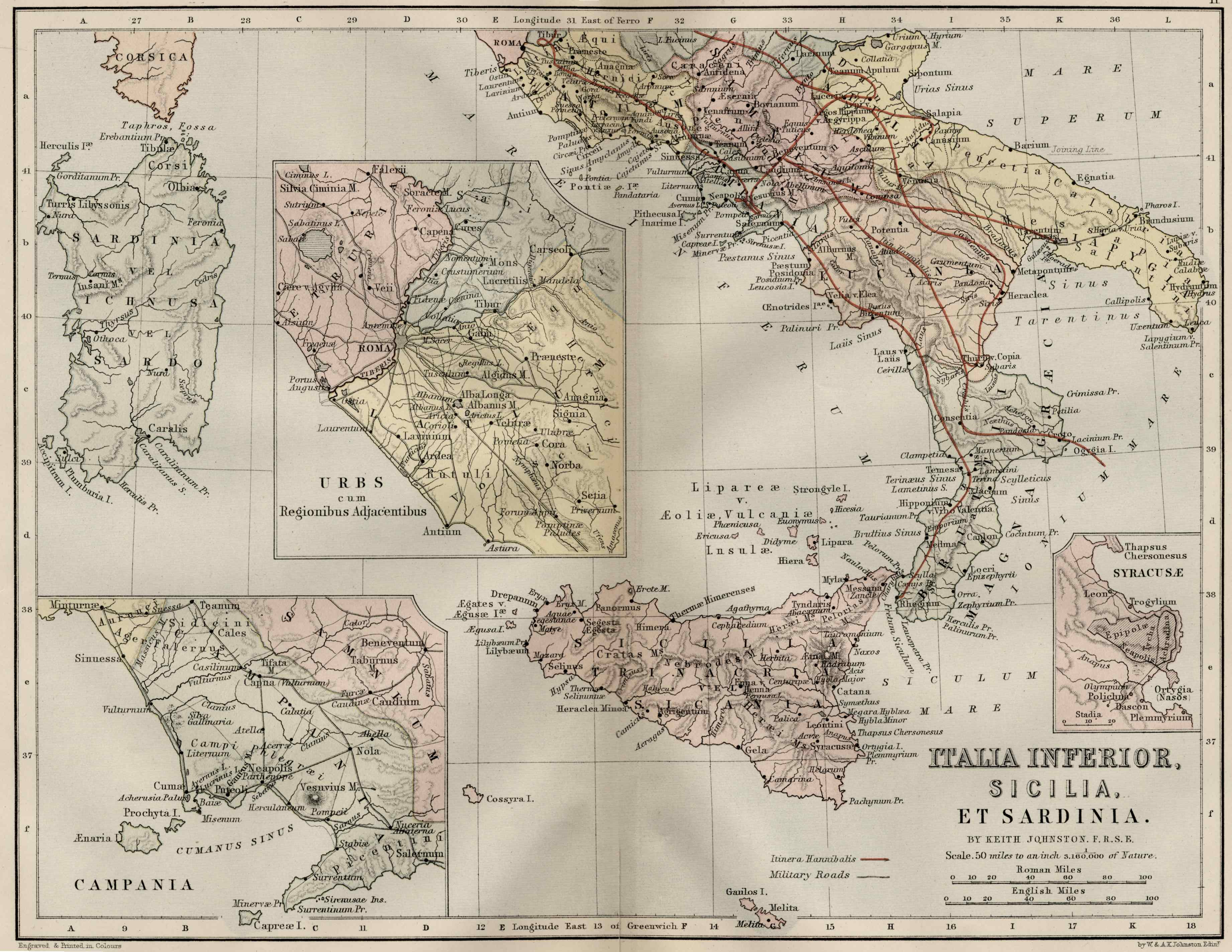 Medieval Map Of Italy.Italy And Sicily Ancient Map Italy Mappery