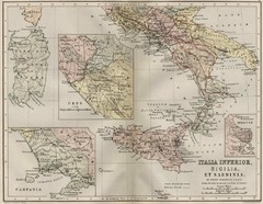 Italy and Sicily Ancient Map