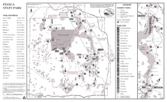 Itasca State Park Summer Map