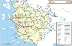 Izmir Region Highways Map
