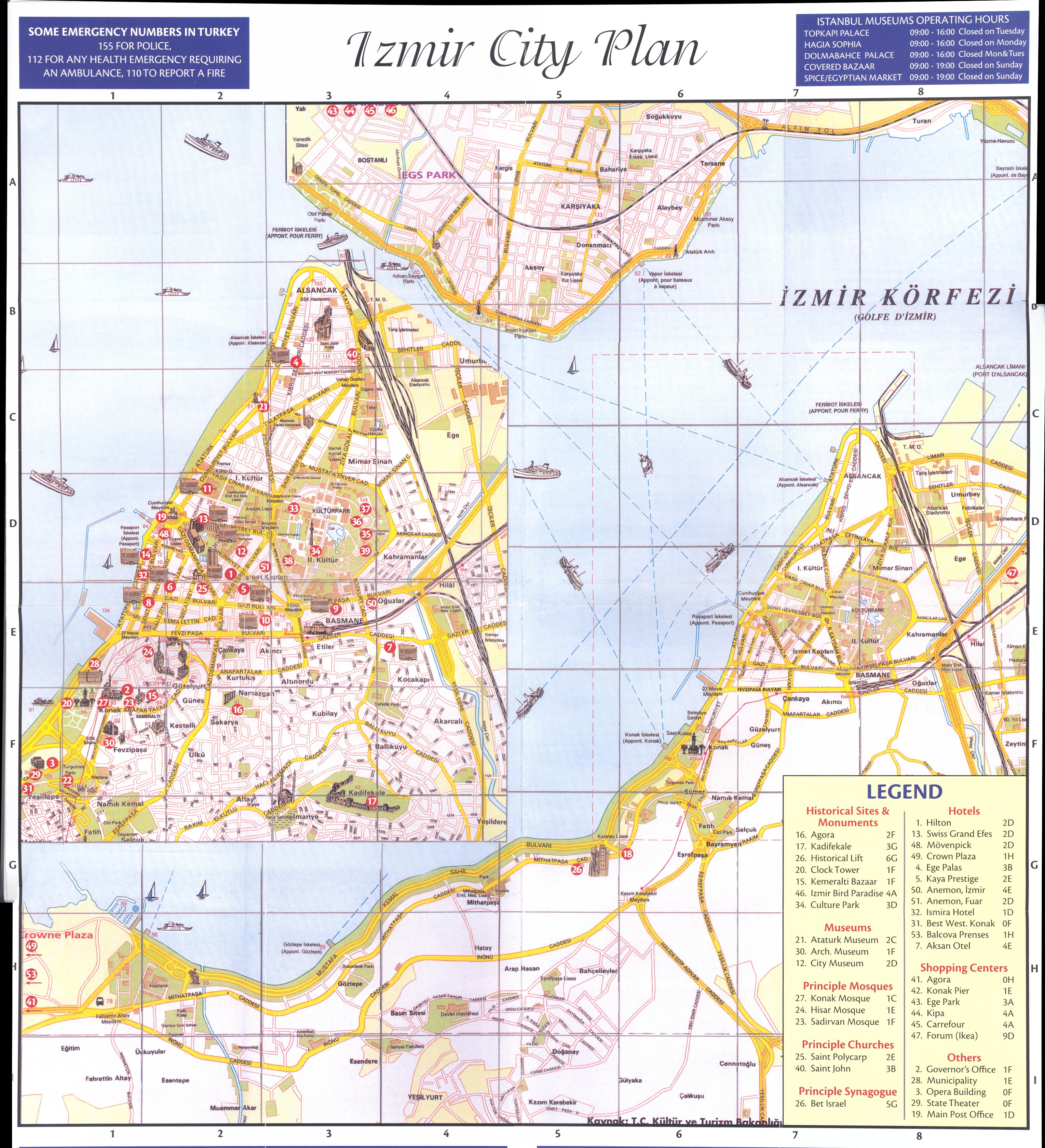 Izmir city plan Map izmir mappery