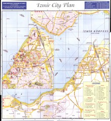 Izmir city plan Map