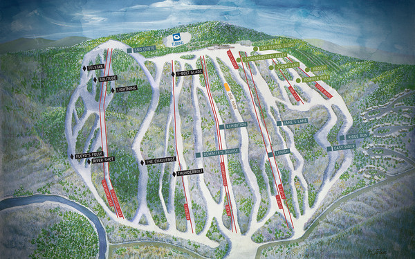 Jack Frost Ski Area Ski Trail Map