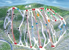 Jack Frost Ski Trail Map