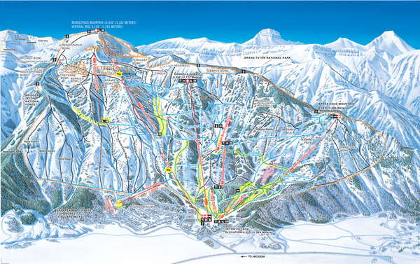 Jackson Hole Mountain Resort Ski Trail Map