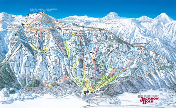 Jackson Hole Ski Trail Map