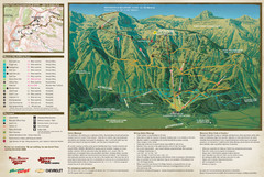Jackson Hole Summer Mountain Map