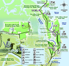 Jacksonville Area Florida State Parks Map