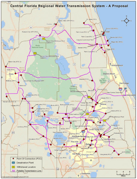 Florida City Map.Jacksonville Area Florida State Parks Map Shady Rest Florida Mappery