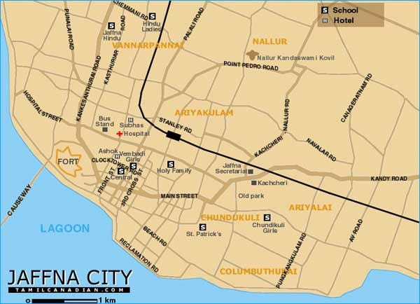Jaffna City Map