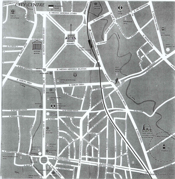 Jakarta City Center Map