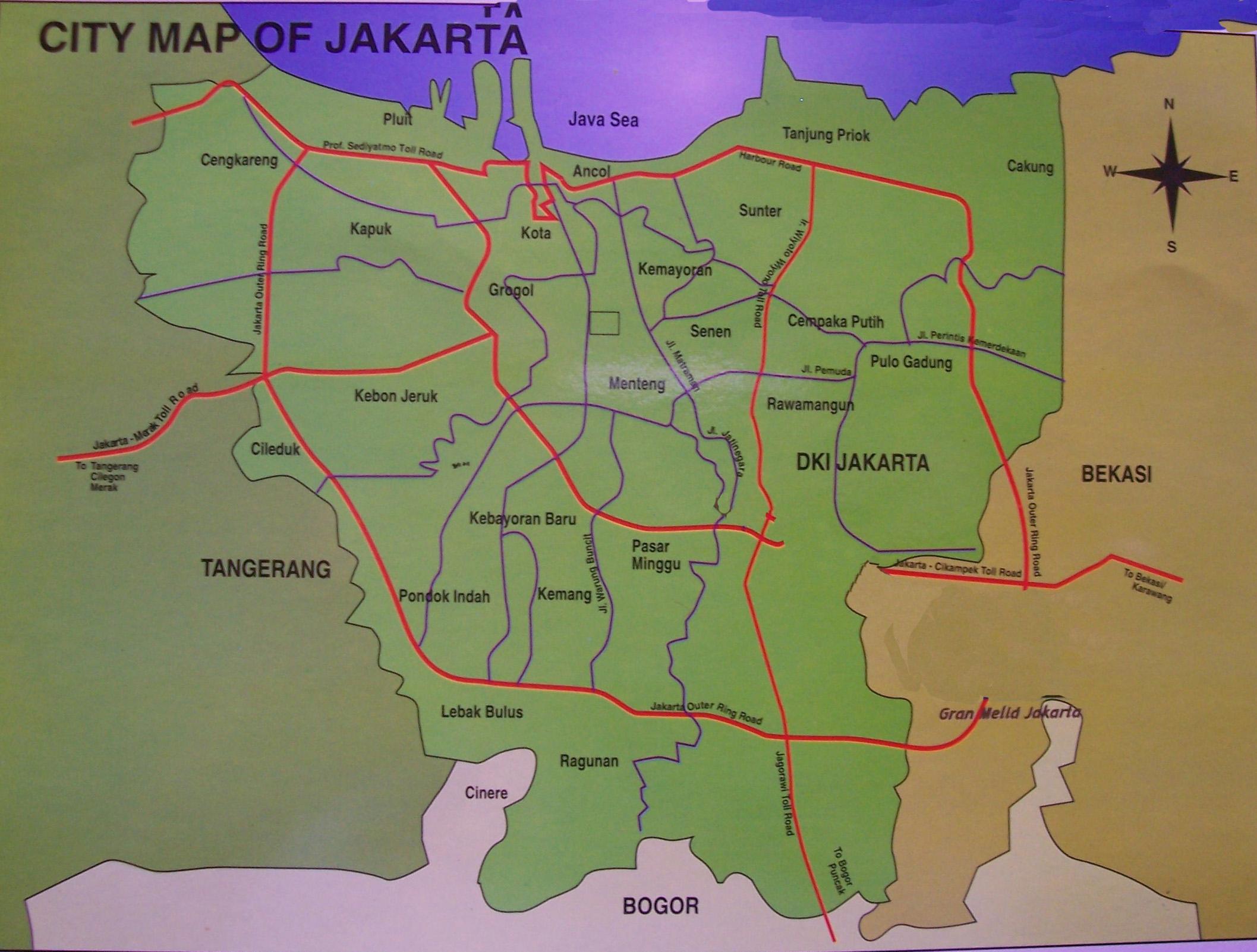 Jakarta Map | Maps