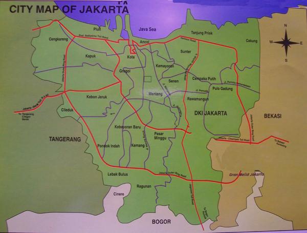 Indonesia City Map Fullsize Jakarta City Map