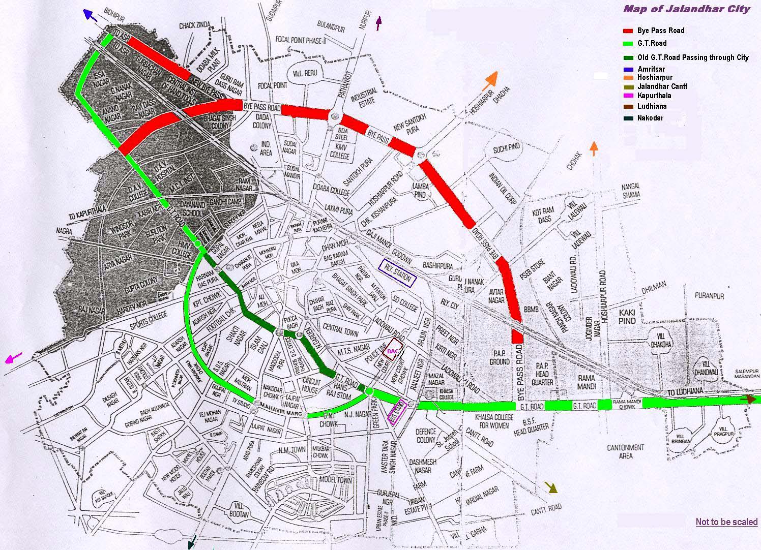 Jalandhar City Map Jalandhar India mappery
