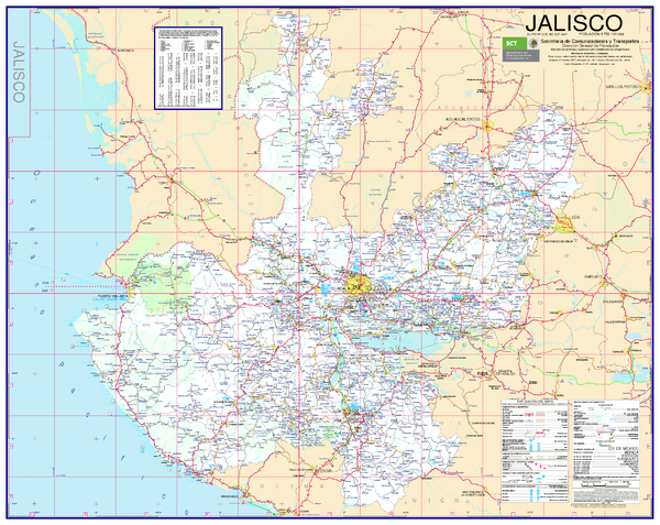 fullsize jalisco road map